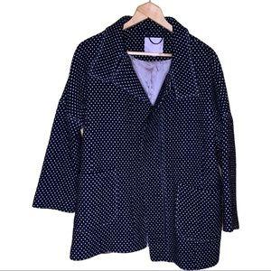 Rebecca Taylor Wool Blend Polka Dot Coat Size 2